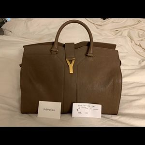 NWT Authentic YSL Cabas Chyc Large tan tote